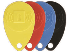 HONEYWELL TAG4S evohome security RFID Chip, Gelb, Rot, Blau, Schwarz