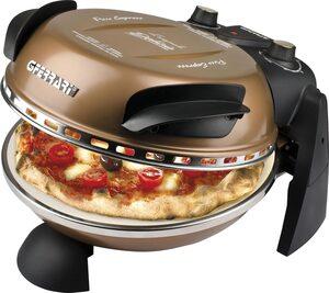 G3Ferrari Pizzaofen Delizia G1000608 kupfer, Grill, bis 400 Grad mit feuerfestem Naturstein / Pizza und Fladen uvm. in 3 Minuten / G3 Ferrari die Nr. 1 weltweit der Pizzamaker / auch für Tisch und G