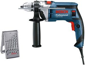 Bosch Professional Schlagbohrmaschine »GSB16 RE«, 230 V, (Set), 750W, im Handwerkerkoffer mit Zusatzhandgriff