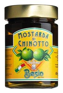 Besio Mostarda di Chinotto di Savona - Senffrüchte aus Bitterora..., Italien, 0.4300 kg