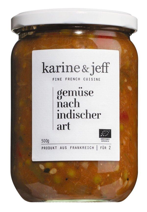 Karine & Jeff Gemüse nach indischer Art 520g   - Saucen, Pesto &..., Frankreich, 0.5200 kg