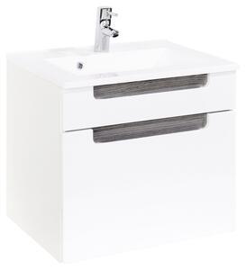 Waschtischkombination in Weiss/Eichefarbe 'Siena'