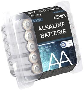Batterie Alkaline LR6 AA 30er Packung