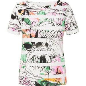 """Adagio T-Shirt """"Fleur 2"""", Strass, Rundhalsausschnitt, Mustermix, für Damen"""
