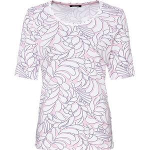 Olsen T-Shirt, schmal geschnitten, Baumwolle, Blätter-Print, für Damen