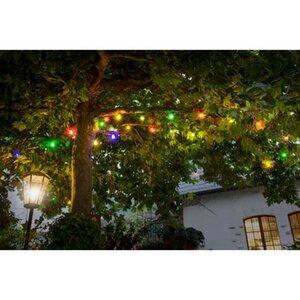 Konstsmide LED-Lichterkette für außen Biergarten Bunt 80 Dioden EEK: A
