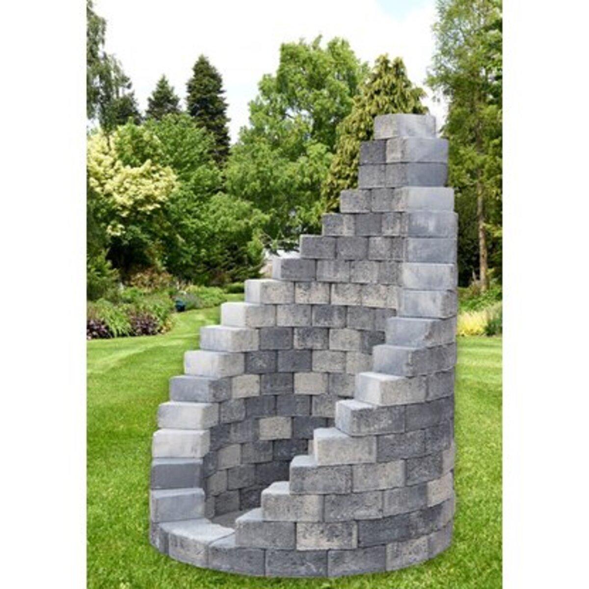 Bild 1 von EHL Gartendusche Bausatz Grau-Anthrazit Ø 123 cm