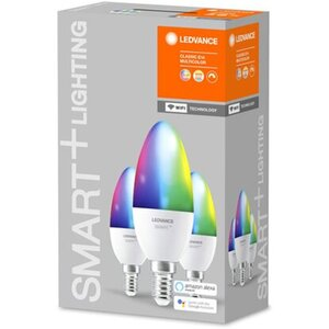 Ledvance Smart+ WiFi LED-Lampe Kerzenform E14/5W 470lm Farbwechsel 3er-Pack