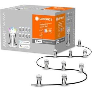 Ledvance Smart+ WiFi LED-Gartenspots Außen 9 Lichtpunkte RGBW Farbwechsel