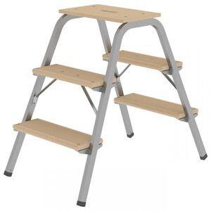 Günzburger Steigtechnik - Günzburger Stahl-Holz-Tritt 3 Stufen