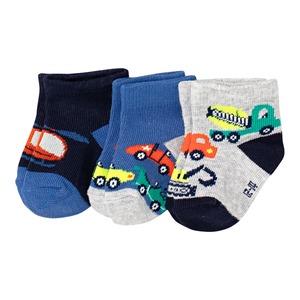 Baby-Jungen-Sneaker-Socken, 3er-Pack