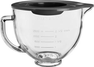 KitchenAid Zubehör für Küchenmaschine 4.3L &  4.8L Klar-Glasschüssel  4,8 L +Griff/Silikondeckel (5K