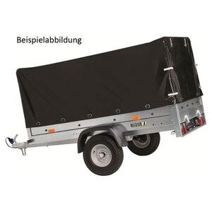 Hochplane in Schwarz passend für Stedele Einachs Stahlblech-Anhänger MST71A