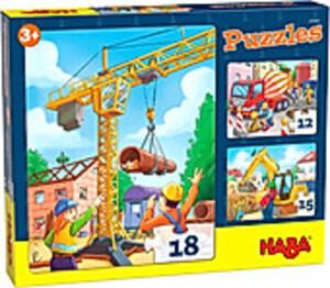 HABA Puzzles Baustellenfahrzeuge (Kinderpuzzle)