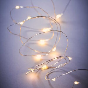 LED Lichterkette 50 Lichter transparent
