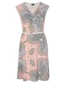 Damen Jerseykleid mit drapiertem Ausschnitt