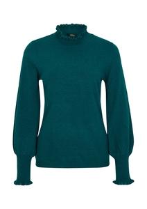 Damen Wollmix-Pullover mit Stehkragen