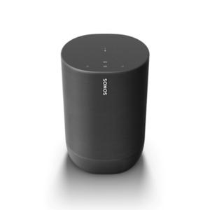 Sonos Move schwarz kompakter Smart Speaker mit Akku integrierte Sprachsteuerung