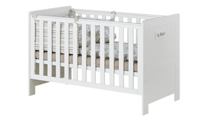 Kombi-Kinderbett - weiß - 75 cm - 92 cm - Baby