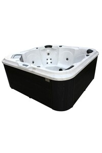 LAMAR Outdoor Whirlpool inkl. Abdeckung mit Wärmeisolierung SAVONA für 6 Personen