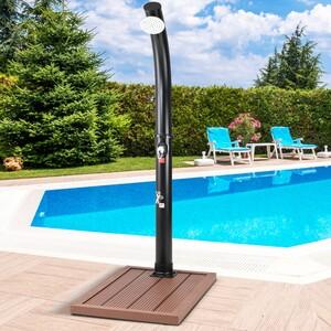 Casaria WPC Outdoor-Bodenelement Duschpedal für Pool-Leitern & Solarduschen