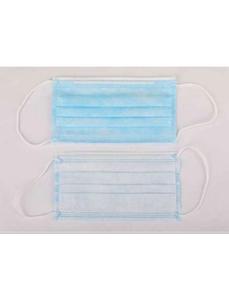 Hygienemaske, Weiß   Blau, Gewebe