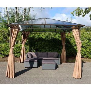 Gartenpavillon Hardtop mit Seitenteilen 3x3m