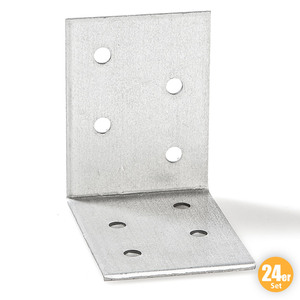 Kraft Werkzeuge Winkelverbinder, je ca. 40 x 40 x 20 mm - 24er-Set