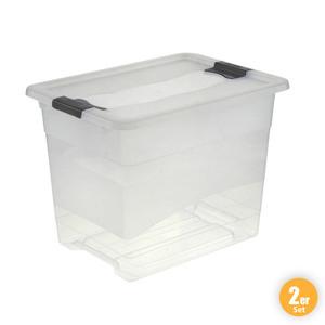 Toptex Ordnung Transportbehälter, Transparent - 2er-Set