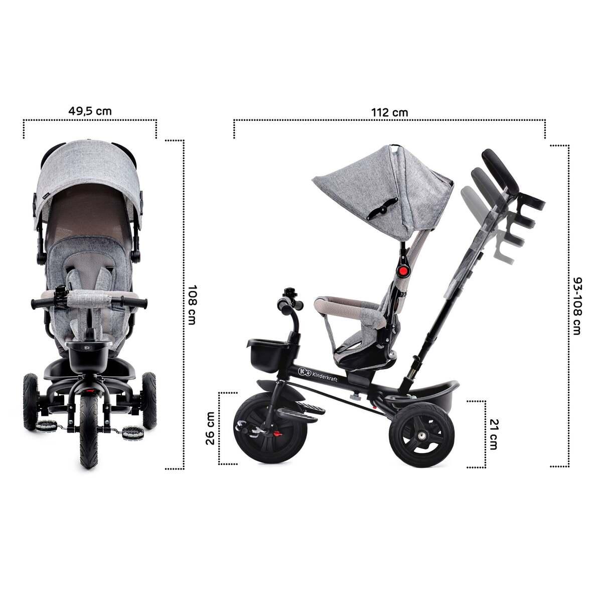 Bild 3 von Kinderkraft AVEO-Dreirad grey