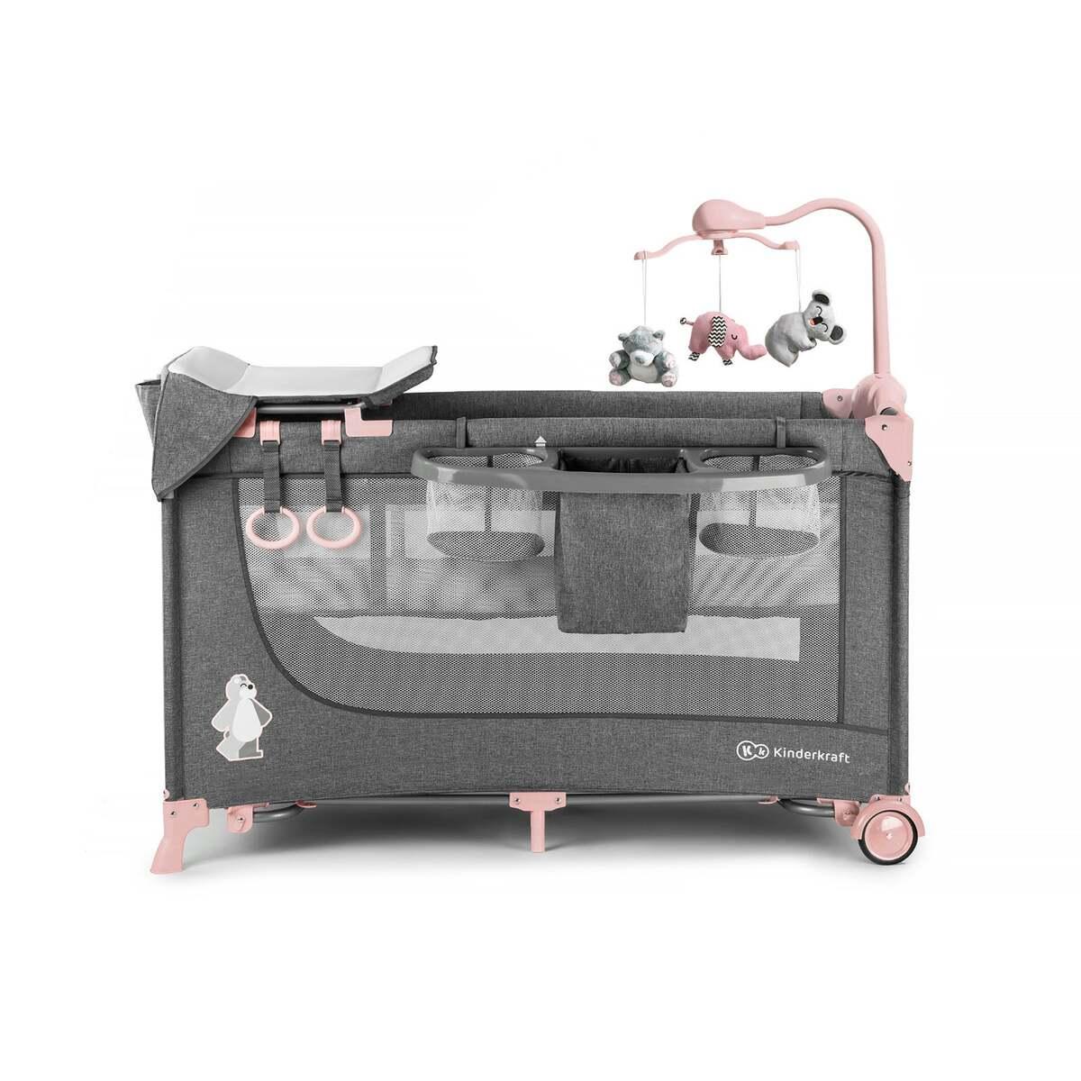 Bild 1 von Kinderkraft JOY-Reisebett 2in1mit Zubehör pink