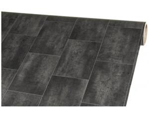 Vinylboden Mosa Kachel schwarz ca. 200 cm