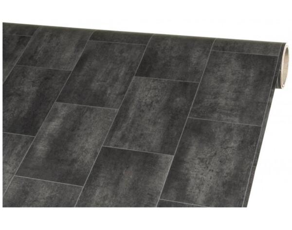 Vinylboden Mosa Kachel schwarz ca. 300 cm