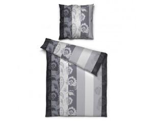 Renforce Bettwäsche Blumenornament schwarz/weiß 135 x 200 cm