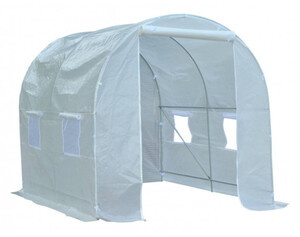 Outsunny Foliengewächshaus mit 8 Seitenfenstern 845-12