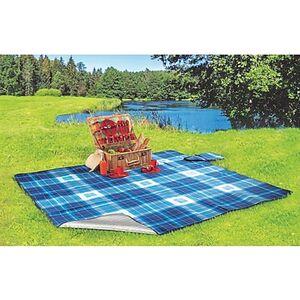 XXL Picknickdecke - verschiedene Designs - blau Karo