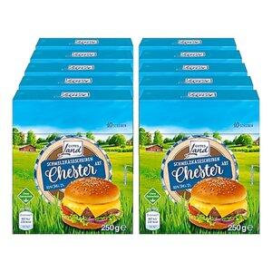 Gutes Land Schmelzkäse Scheiben Chester 250 g, 10er Pack