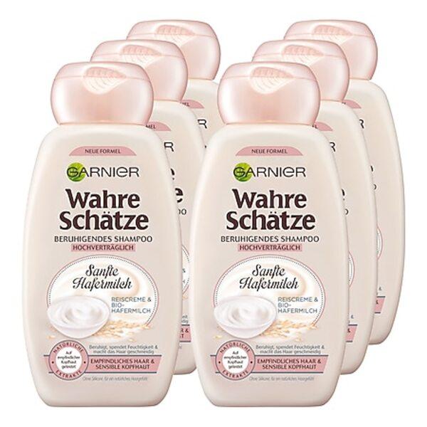 Garnier Wahre Schätze Shampoo Hafermilch 250 ml, 6er Pack