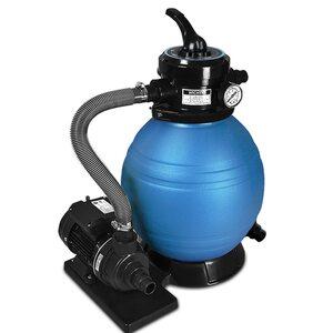Deuba Sandfilteranlage 10 m³/h Filterkessel, Blau
