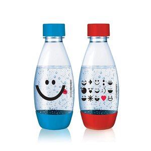 SodaStream PET-Flasche 0,5 L Duopack Kids Edition blau, rot