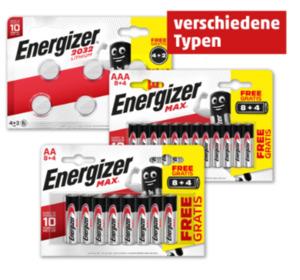 ENERGIZER Batterien (AA/AAA) oder Knopfzellen (CR-2032)