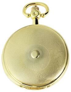 Metall Taschenuhr mit einem Gehäuse aus Metall in goldfarbig