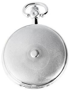 Metall Taschenuhr mit einem Gehäuse aus Metall in silberfarbig