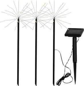 Solarstab Firework mit 90 warmweißen LEDs im 3er Set