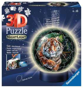 Ravensburger Puzzle 3D Nachtlicht Raubkatzen 72T