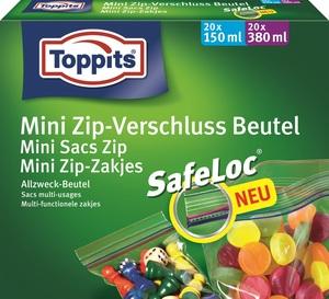 Toppits Mini Zip-Verschluss Beutel 150 ml + 380 ml 2x 20 Stück
