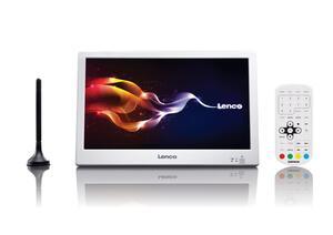 Lenco Tragbarer LCD-Fernsehr 25,4cm (10 Zoll) TFT-1028, DVB-T2, Farbe: Weiß