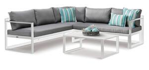 BEST 3-tlg. Lounge-Gruppe Rhodos weiss/grau, 98693000 weiss