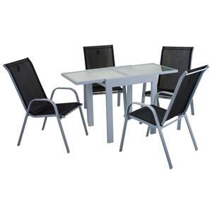 Harms Tischgruppe LOLA 5 tlg. / 1x Tisch / 4x Stapelstuhl ; 305259