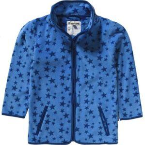 Kinder Fleecejacke, Sterne blau Gr. 74